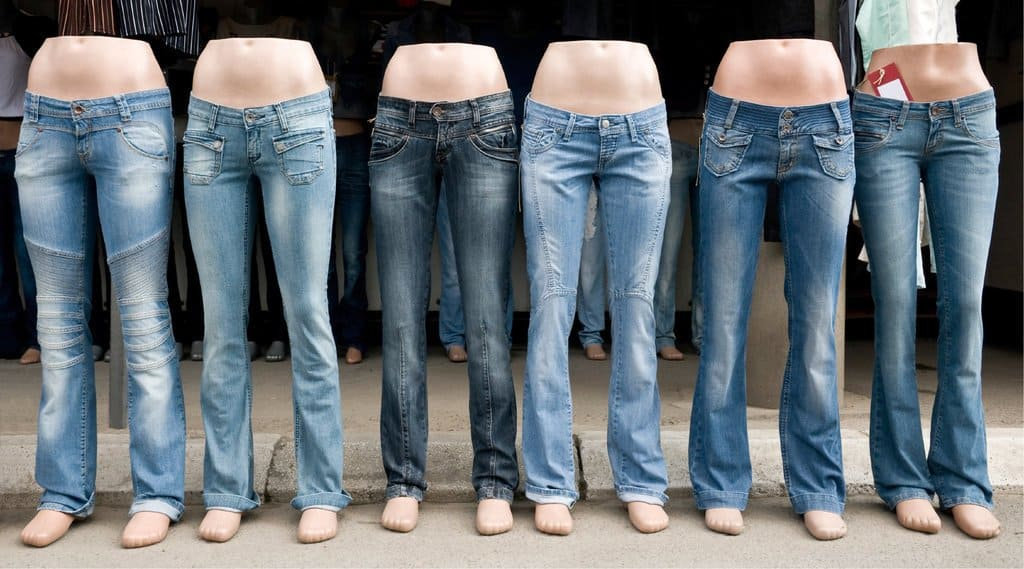 low rise jeans on mannequin