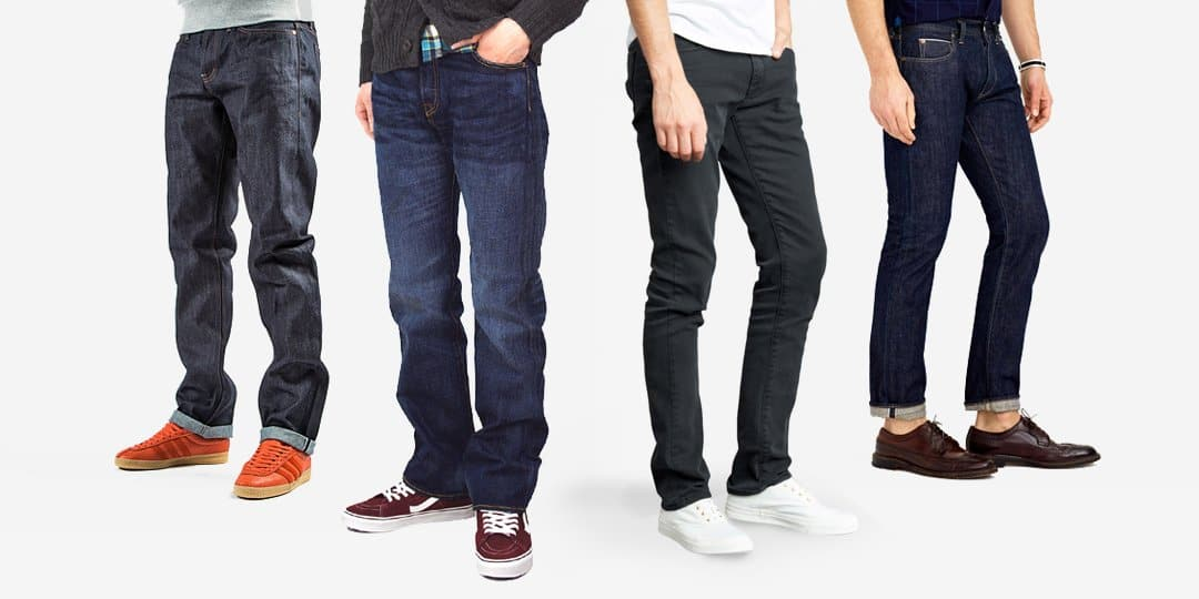 different styles of jeans
