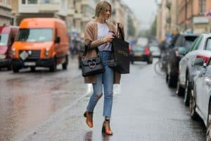 dressing up distressed jeans