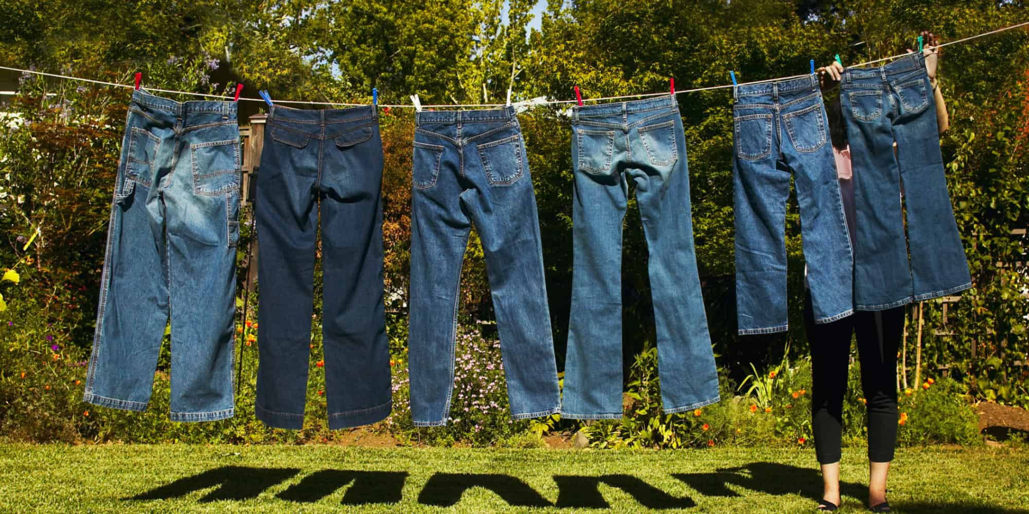 line dry your jeans