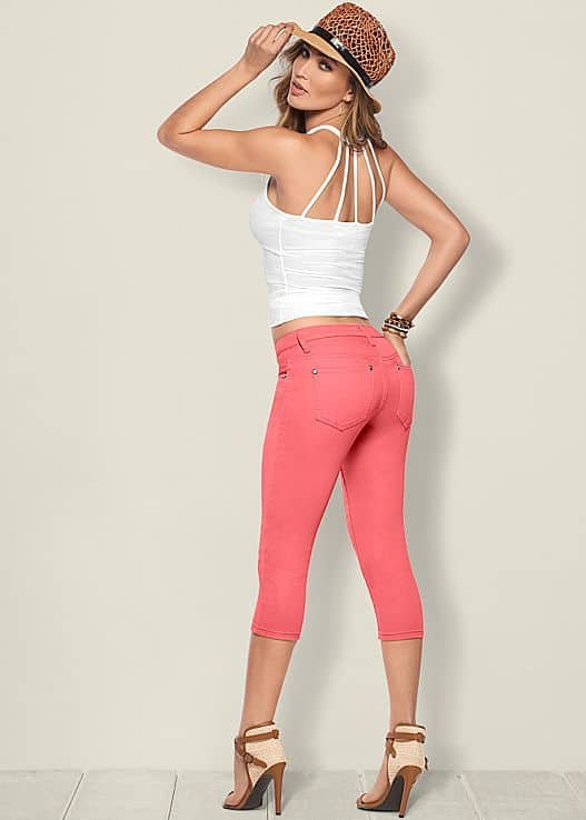 COLOR CAPRI JEANS BY VENUS